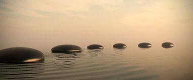 chemin-de-zen-des-pierres-sur-le-lever-de-soleil-dans-en-format-large-26117170