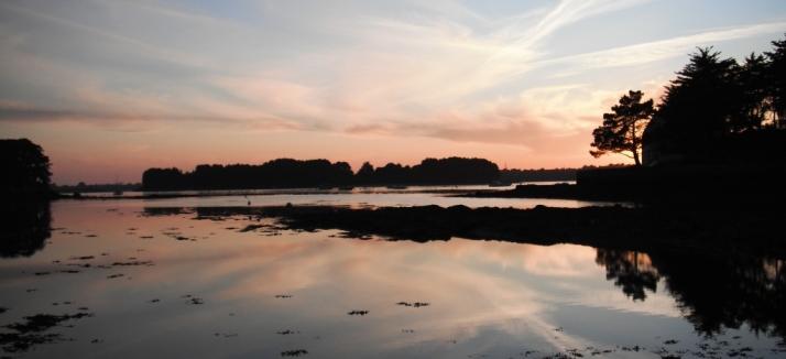 coucher de soleil sur gavrinis