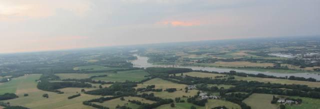 La Loire, vue d'une mongolfière